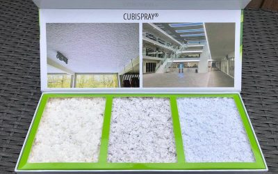 De nieuwe akoestische pleister van Akuson: Cubispray Cool White